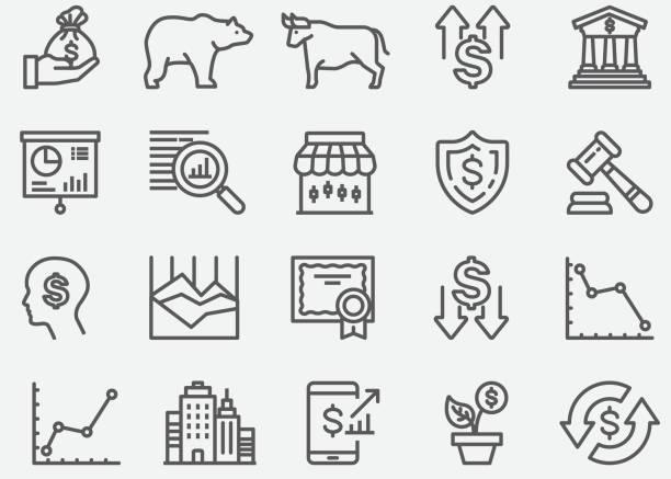 股票市場線圖示 - 擊敗 幅插畫檔、美工圖案、卡通及圖標