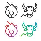 Stock Market line Icons