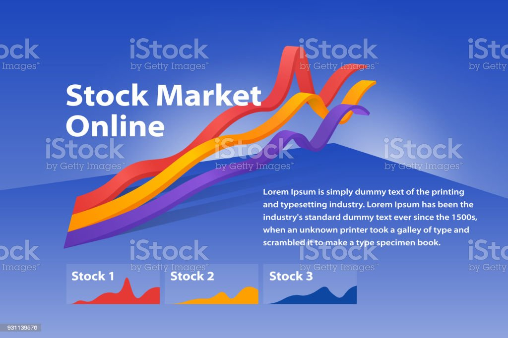 Stock market online visualization flat 3d web infographic concept. Graph of cryptocurrency or or foreign exchange. royalty-free stock market online visualization flat 3d web infographic concept graph of cryptocurrency or or foreign exchange stock illustration - download image now