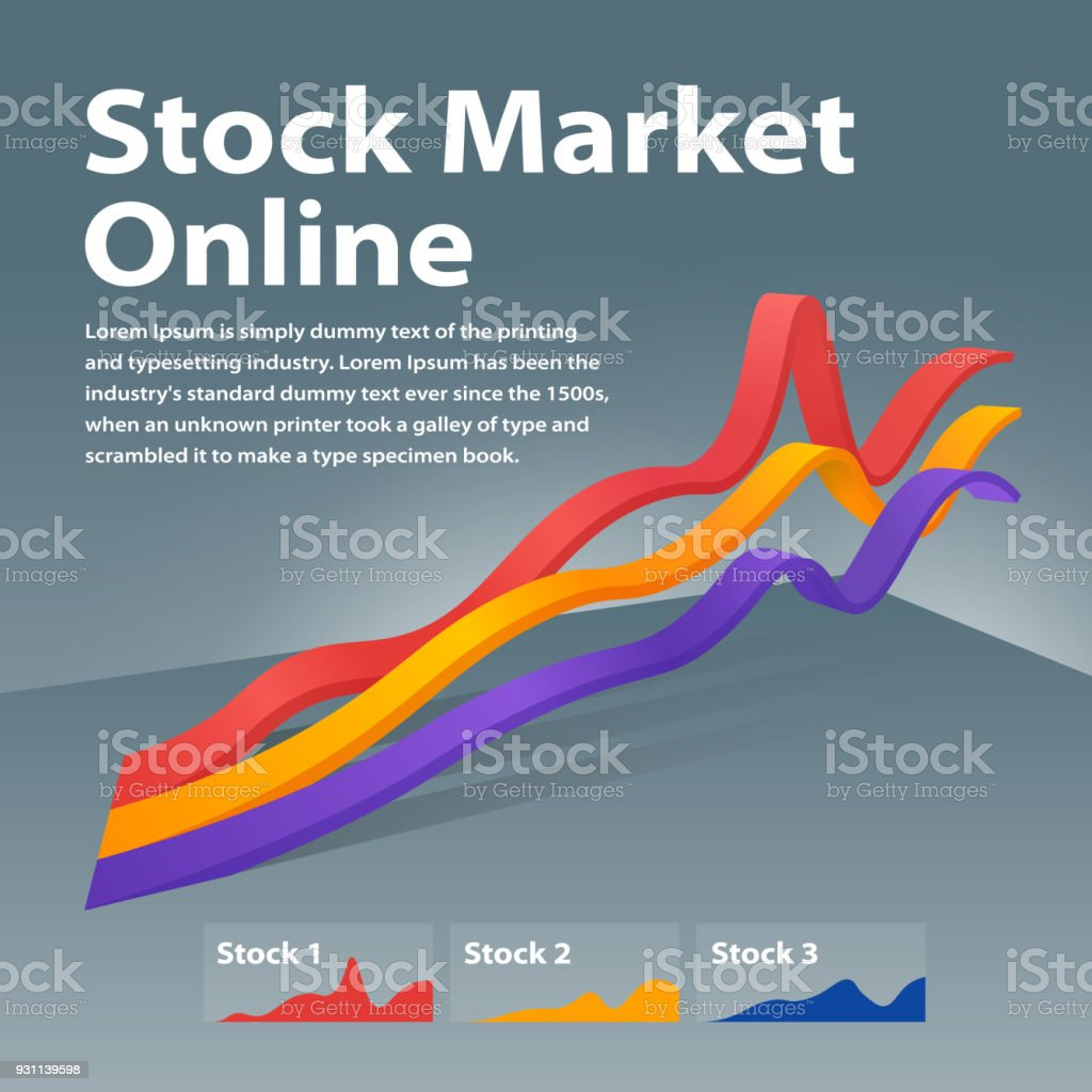Stock market online. Visualization infographic concept. Linear graph 3d. Graph of cryptocurrency or or foreign exchange. royalty-free stock market online visualization infographic concept linear graph 3d graph of cryptocurrency or or foreign exchange stock illustration - download image now