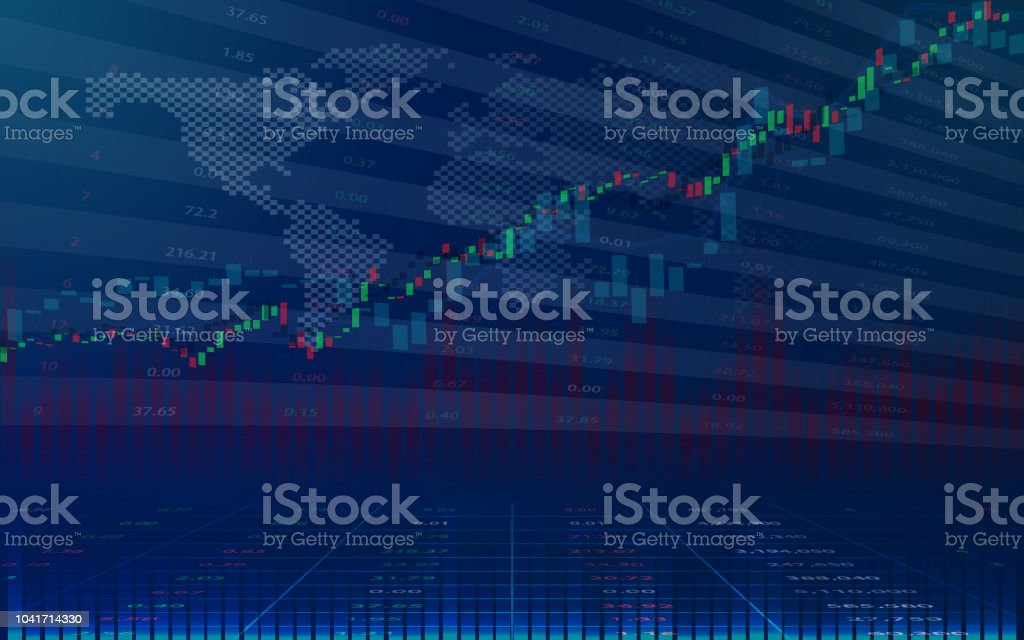 stock market or forex trading candlestick graph in graphic design
