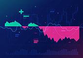 Stock market financial recession chart.