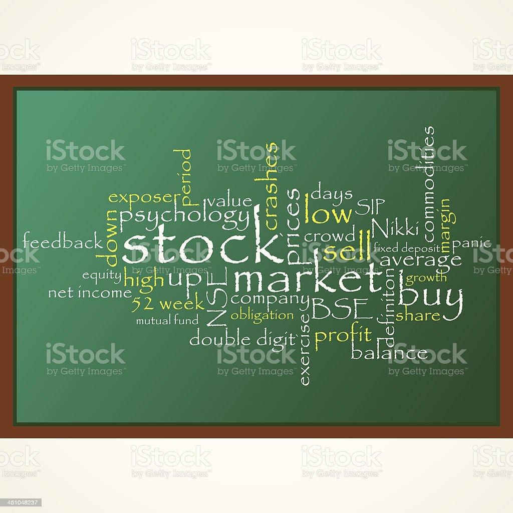stock market vector art illustration