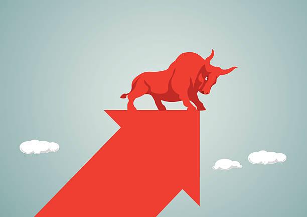stockillustraties, clipart, cartoons en iconen met stock market - bullmarkt