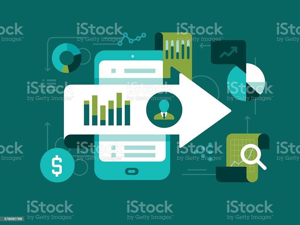 Stock Market vector art illustration