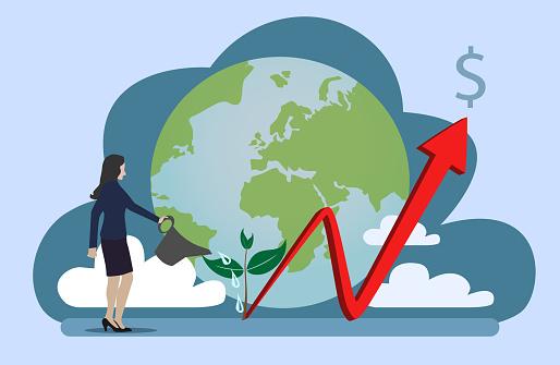 Stock market vector.