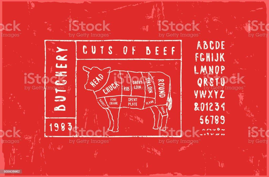 Stock Vector Beef Cuts Diagram Stock Vector Art More Images Of