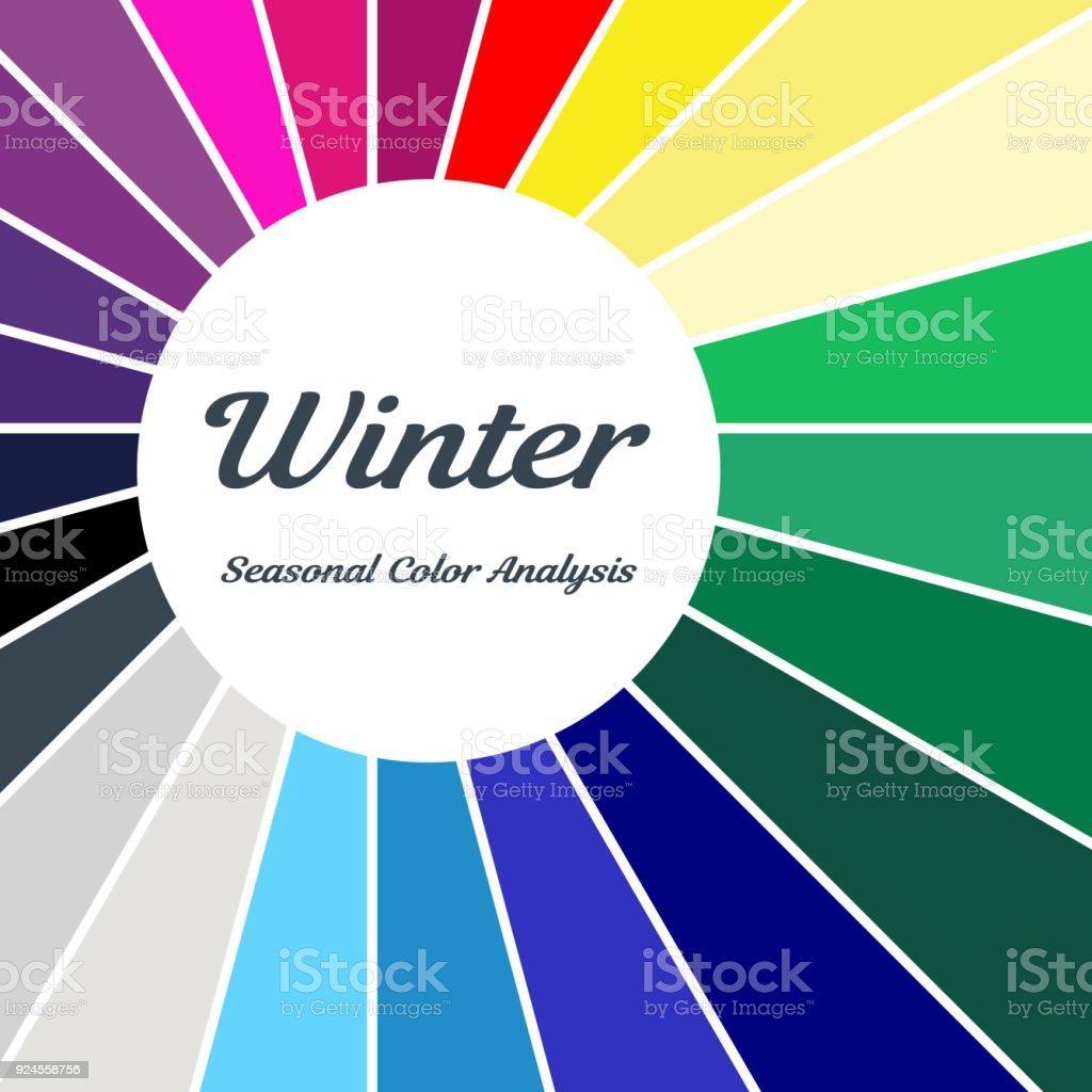 Stock vector color guide seasonal color analysis palette for winter stock vector color guide seasonal color analysis palette for winter type type of female nvjuhfo Choice Image