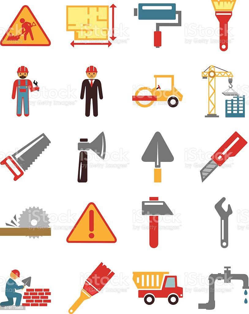 Ilustración de Vectores De Stock De Construcción Plana De Color ...