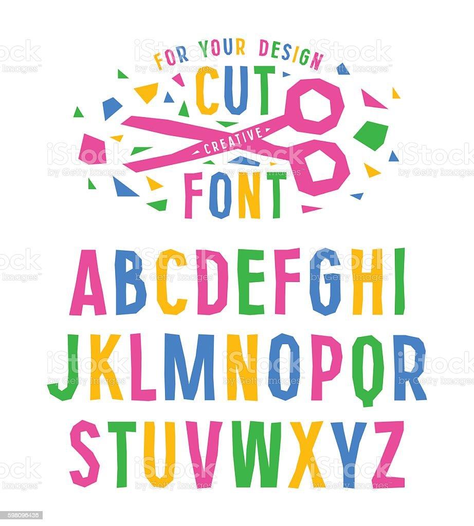 Stock vector creative alphabet vector art illustration