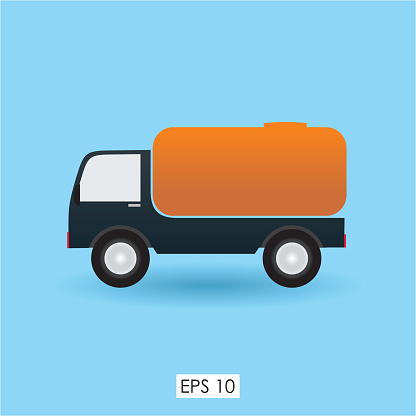 Stock Vector Cute Fuel Tanker Illustration Design