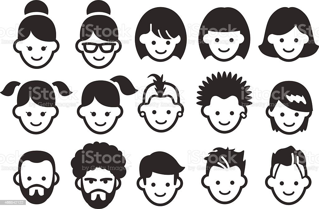 Stock Vector Illustration: Avatar icons 1 vector art illustration