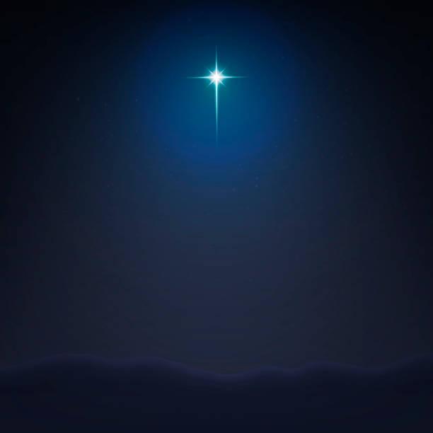 股票向量插圖伯利恒明星簡約背景。耶穌基督的誕生 eps 10 - 宗教 幅插畫檔、美工圖案、卡通及圖標