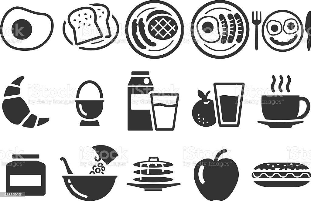 Stock Vector Illustration: Breakfast icons vector art illustration