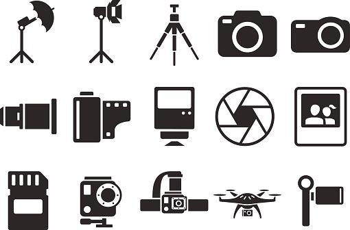 Stock Vector Illustration: camera icons - Illustration