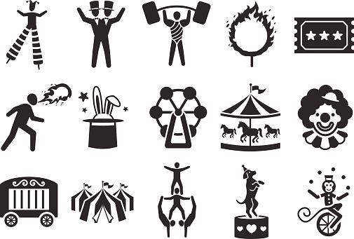 Stock Vector Illustration: Circus icons set 2
