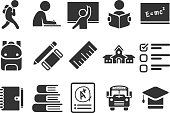 Stock Vector Illustration: Education icons