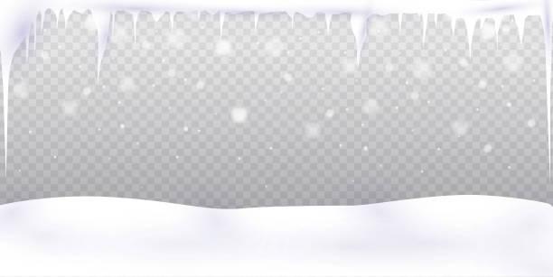 aktie vector illustration fallenden schnee. - eiszapfen stock-grafiken, -clipart, -cartoons und -symbole