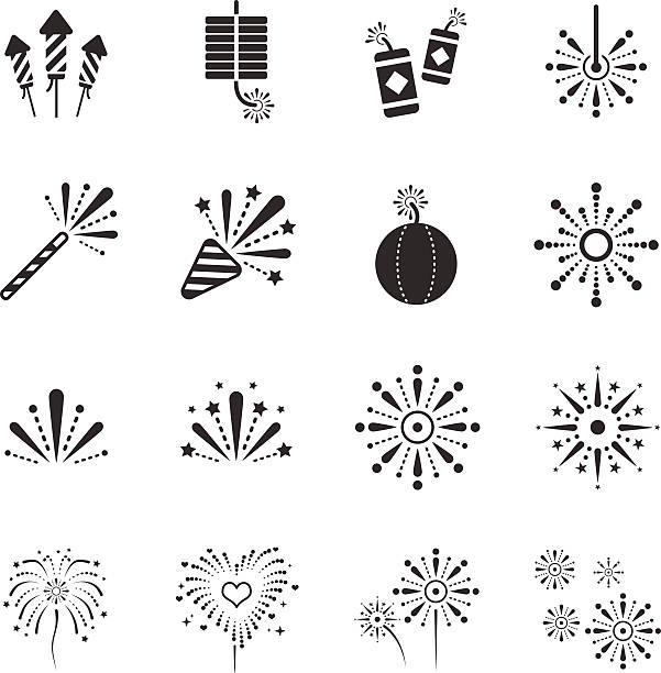 pień ilustracja wektorowa: ikony pokaz - new year stock illustrations