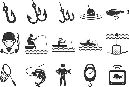 Stock Vector Illustration: Fishing icons
