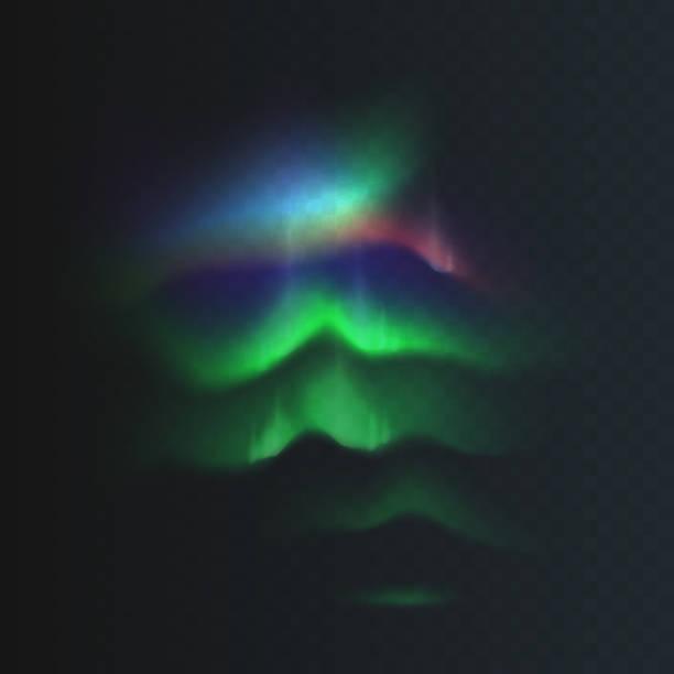 株式ベクトル図北部と北極は格子模様の透明な背景の免震を点灯します。磁気の嵐。オーロラが見られます。eps 10 - オーロラ点のイラスト素材/クリップアート素材/マンガ素材/アイコン素材