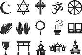 Stock Vector Illustration: Religious icons