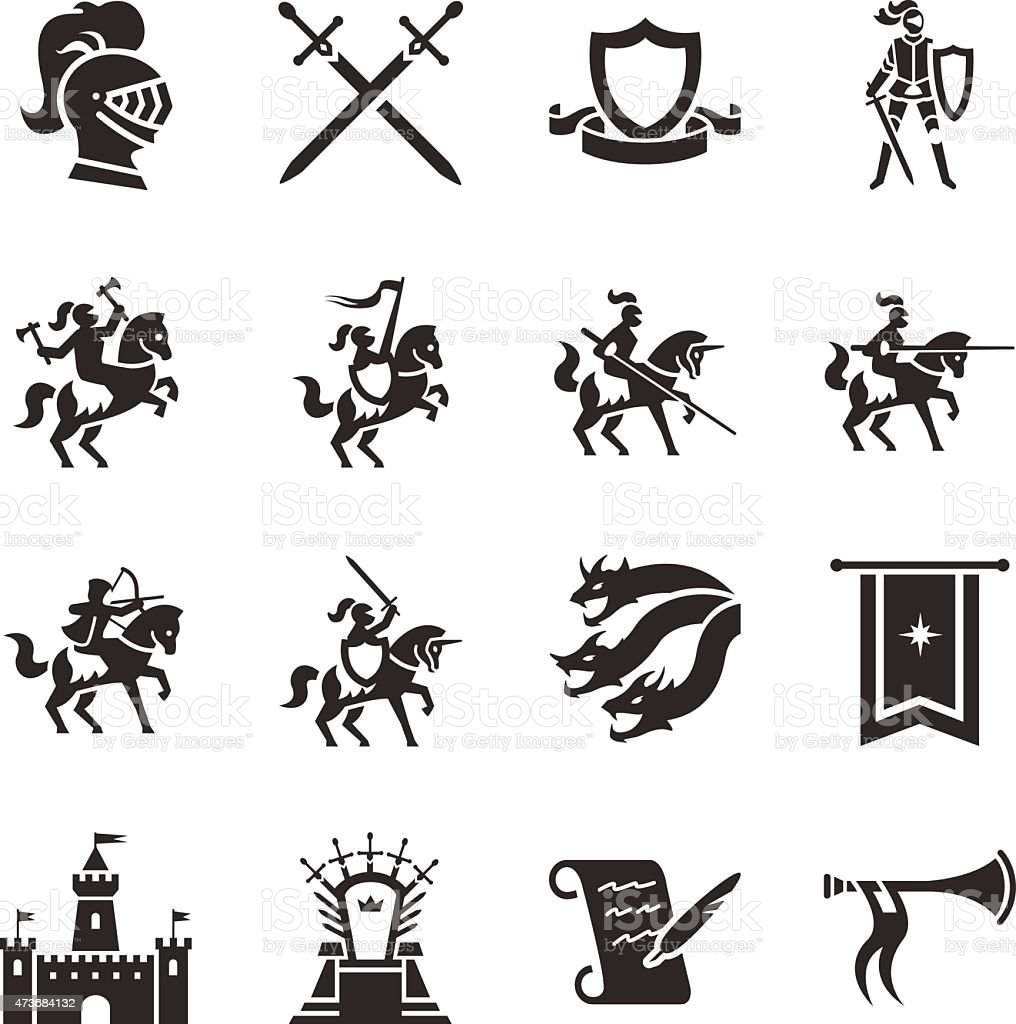 Stock Vector Illustration: The Middle Ages vector art illustration