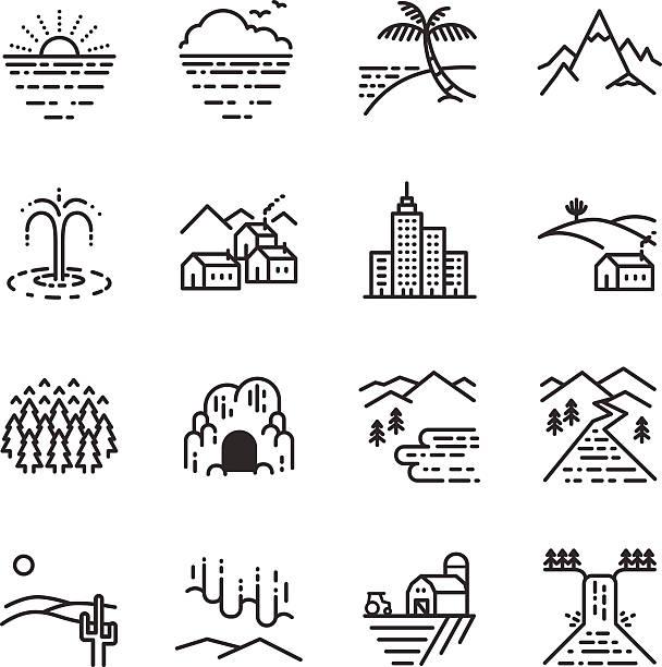 ストックベクトルイラスト。ライン旅行のアイコン - オーロラ点のイラスト素材/クリップアート素材/マンガ素材/アイコン素材
