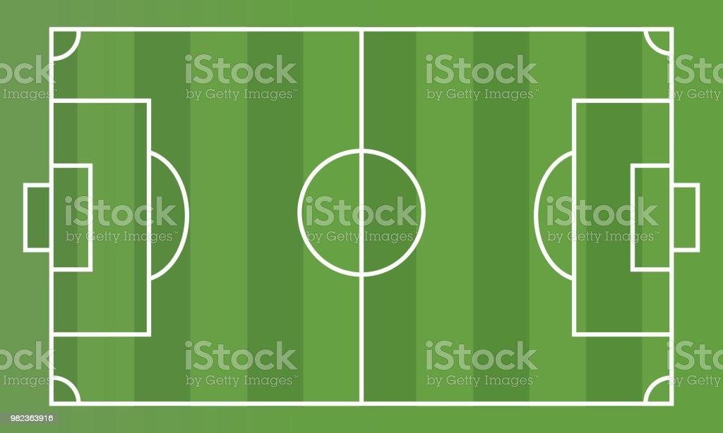Stock vector de cancha de fútbol desde la vista superior. ilustración de  stock vector de ad582137039d5