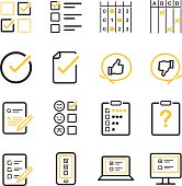 Stock Vector Questionnaire and Survey icons