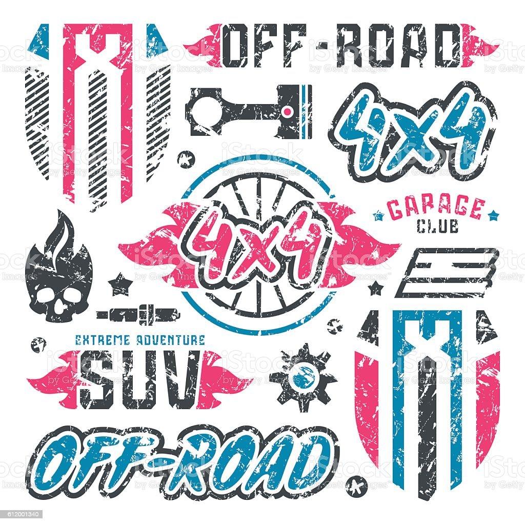 Stock Vector Set Of Offroad Car Badges Stock Vector Art & More