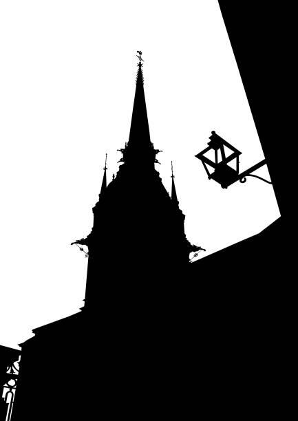 bildbanksillustrationer, clip art samt tecknat material och ikoner med stockholm byggnad - skyline stockholm