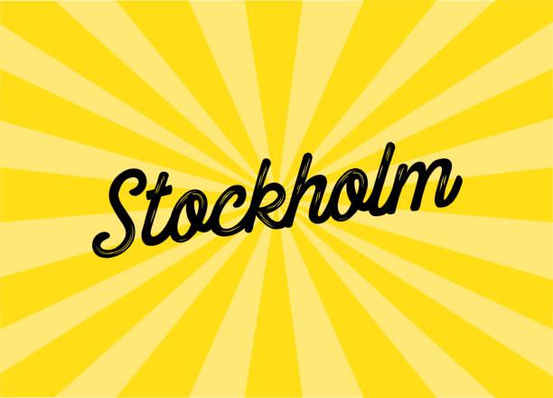 bildbanksillustrationer, clip art samt tecknat material och ikoner med stockholm lettering design - summer sweden