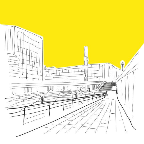 bildbanksillustrationer, clip art samt tecknat material och ikoner med stockholm. modern stad se. - summer sweden