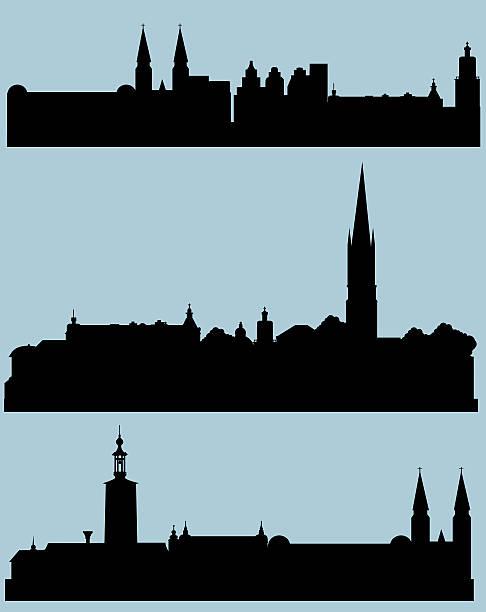 bildbanksillustrationer, clip art samt tecknat material och ikoner med stockholm silhouette - stockholm