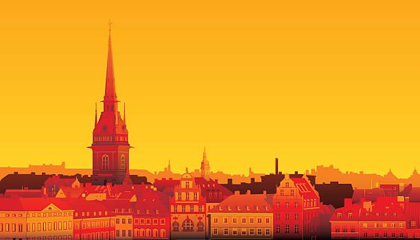 bildbanksillustrationer, clip art samt tecknat material och ikoner med stockholm - skyline stockholm