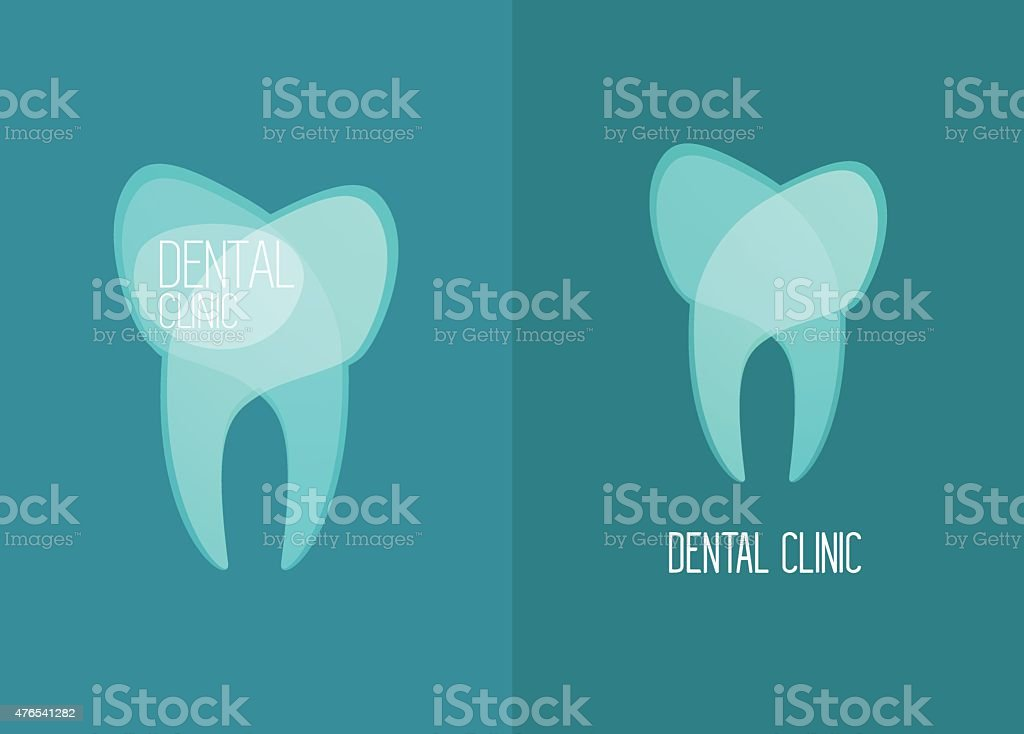 Stomatology, Healthy White Teeth Logo Vector vector art illustration