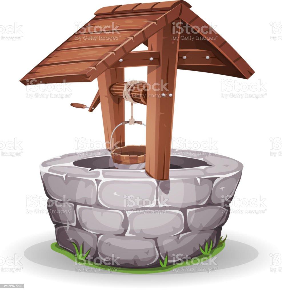 Ilustración de Pozo De Piedra Y Madera Agua y más banco de imágenes ...