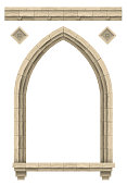 istock Stone beige antique gothic castle or temple arch 1271688303
