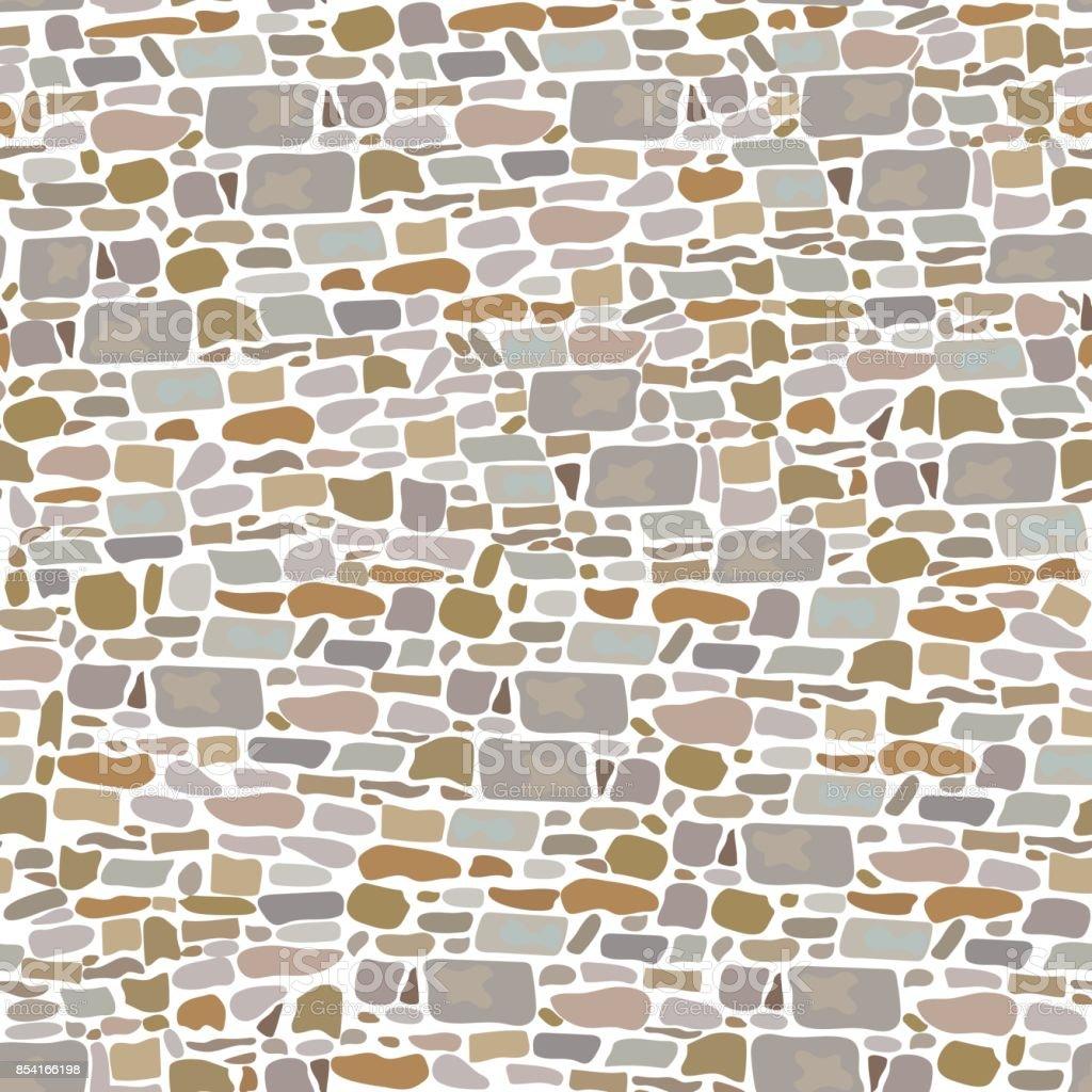 Steinmauer Block Nahtlose Muster Hintergrund Der Wilden Steinen Gemacht  Grau Rot Sand Gelb Braun Stock Vektor Art Und Mehr Bilder Von Abstrakt  854166198 | ...