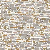 Stone Block Wall, Background of wild bricks. Red, grey, yellow, brown, sand pieces. Seamless pattern. Vintage and comfortable. For , textures, advertising, interiors, indoor and outdoor design, gardening