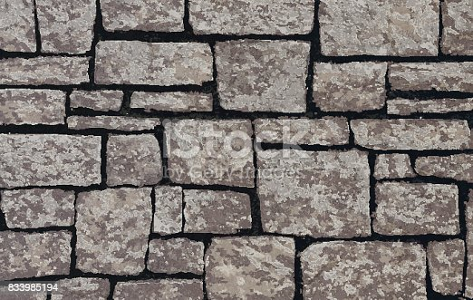 Stone blocks brick wall textured background vector illustration