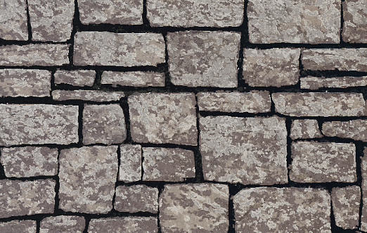 Brick and stone texture stock illustrations