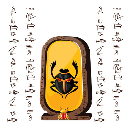 Vetores de Placa De Pedra Tabuleta Da Argila E Hieróglifos