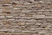 Stone Brick Wall Textured Grunge Background Vector Illustration