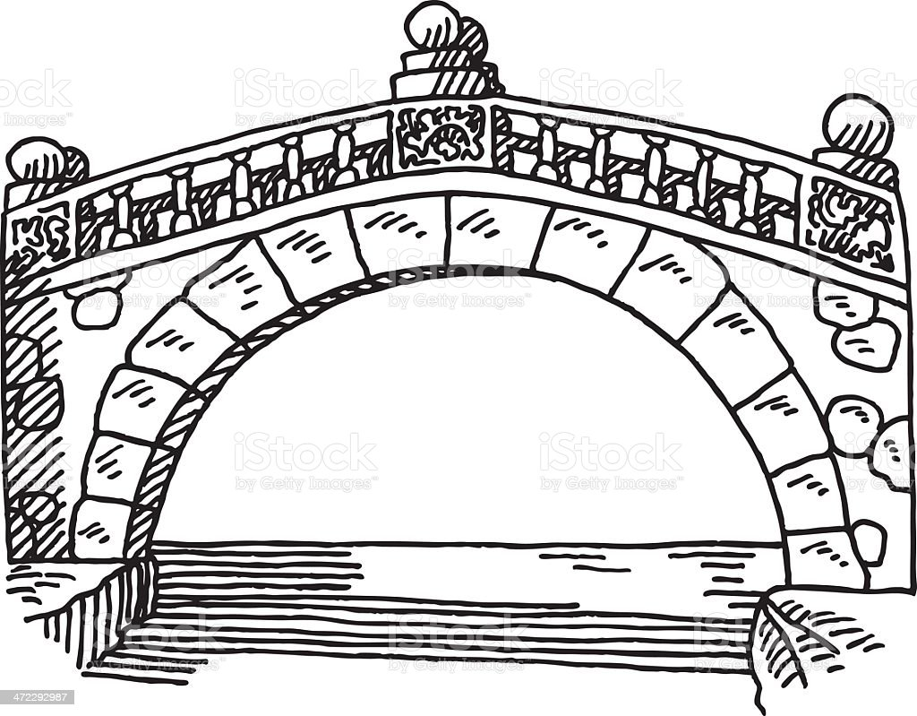 stone bridge drawing stock vector art  u0026 more images of