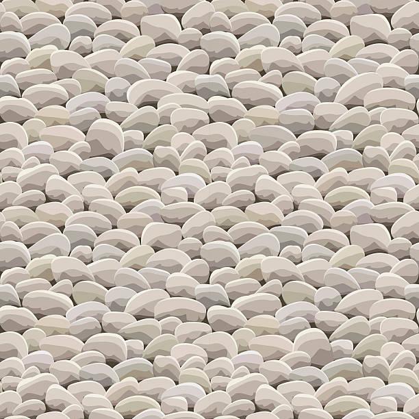 stone rock ground seamless - pebbles stock illustrations, clip art, cartoons, & icons