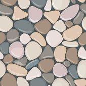 Stone seamless background texture. Pebbles seamless pattern.