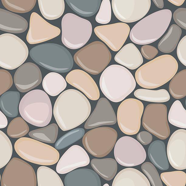 stein nahtlose hintergrund textur. kiesel nahtlose muster. - steinpfade stock-grafiken, -clipart, -cartoons und -symbole