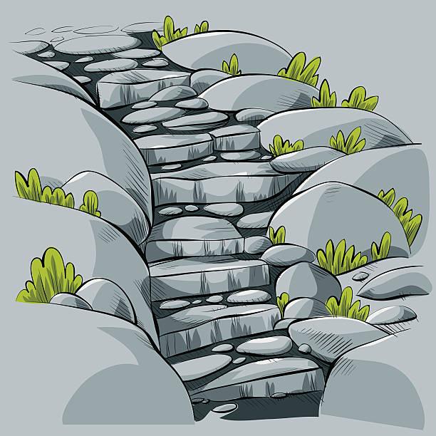 stone wenige schritte - steinpfade stock-grafiken, -clipart, -cartoons und -symbole